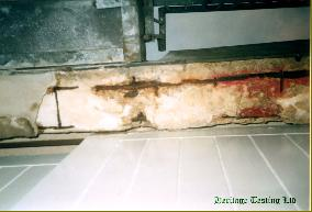 Corrosion of concrete beam